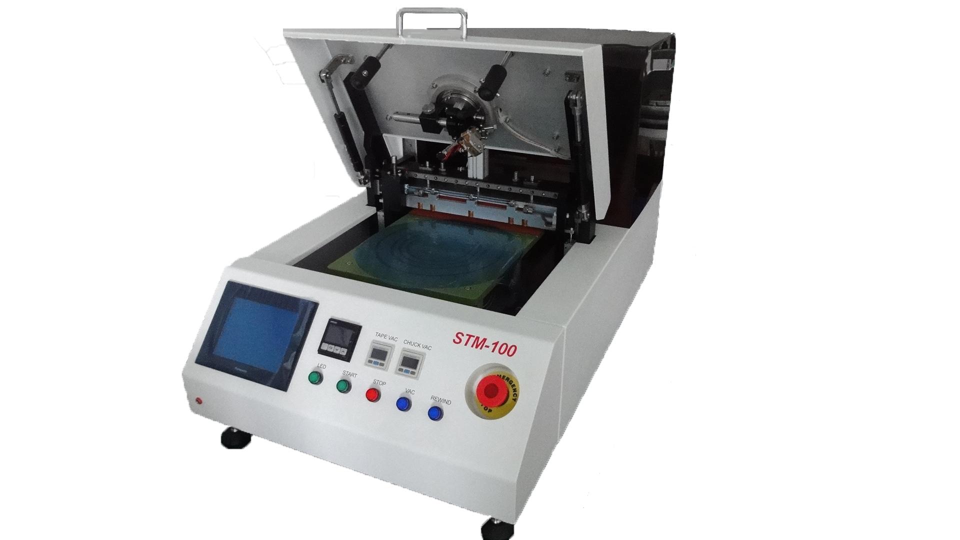 STM-100 半自动减薄前贴膜机